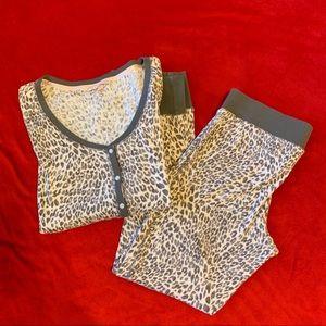 Victoria's Secret leopard print pajamas. Size M.